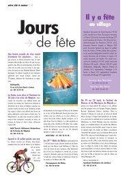 Agenda : jours de fête, sur les planches, expos - Ville de Namur