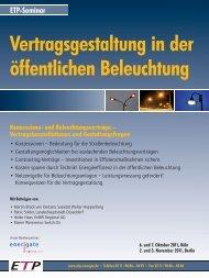 Vertragsgestaltung in der öffentlichen Beleuchtung - Wolter ...