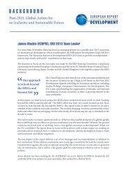 background - European Report on Development