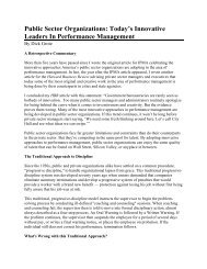 Public Sector Organizations: Today's Innovative Leaders In ... - IPMA