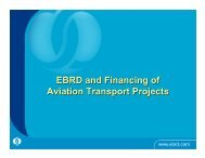 EBRD and Financing of Aviation Transport Projects - nextor ii