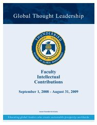 Educating global leaders who create sustainable prosperity worldwide