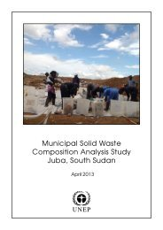 Municipal Solid Waste Composition Analysis Study Juba ... - UNEP