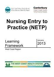 (NETP) 2013 - West Coast District Health Board