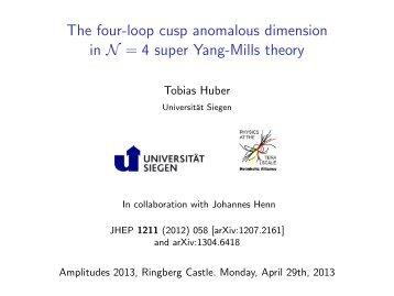 The four-loop cusp anomalous dimension in N=4 super Yang-Mills ...