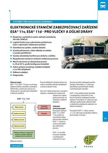 Elektronické stavědlo - AŽD Praha, sro