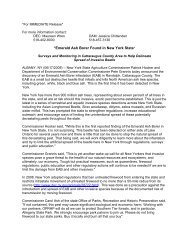 Press Release - New York Invasive Species Clearinghouse