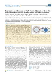 Organization and Dynamics of the N‑Terminal Domain of ... - CCMB