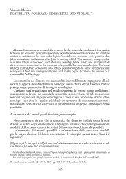 Vittorio Morato POSSIBILITÀ, POSSIBILIA ED ESSENZE ...