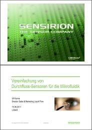 Vereinfachung von Durchfluss-Sensoren für die Mikrofluidik