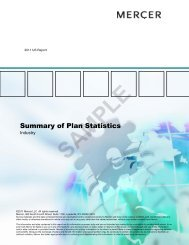 Summary of Plan Statistics - iMercer.com