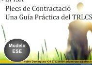 Plecs de Contractació Una Guía Práctica del TRLCS