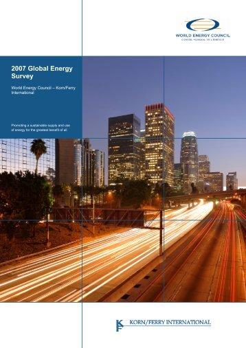 Full Version (PDF, 2000KB) - World Energy Council