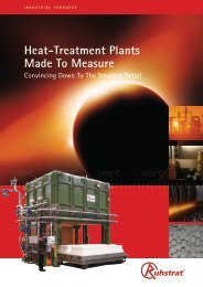 Heat-Treatment Plants Made To Measure - Ruhstrat GmbH