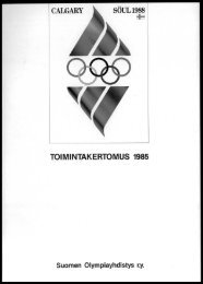 TOIMINTAKERTOMUS 1985