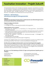 Faszination Innovation – Projekt Zukunft - Frenzelit Werke GmbH