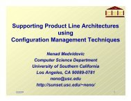 Supporting Product Line Architectures using Configuration ...