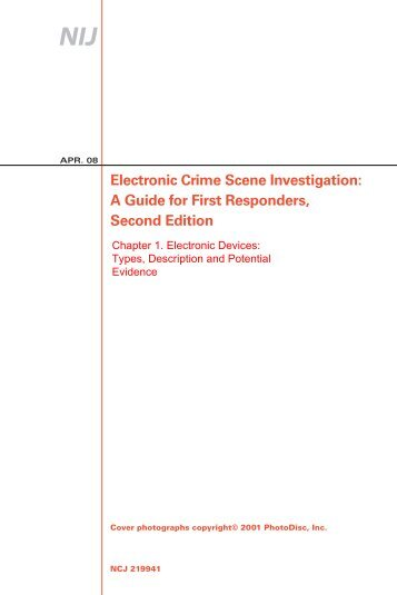 Electronic Crime Scene Investigation: A Guide for First Responders ...