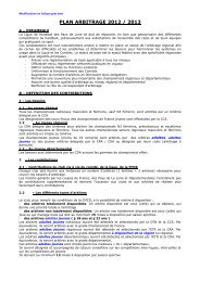 Le plan d'arbitrage 2012 - 2013
