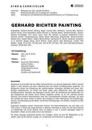 Gerhard Richter Painting - Institut für Kino und Filmkultur
