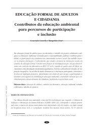 Educação formal de adultos e cidadania - Faculdade de Psicologia ...