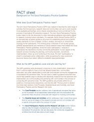 FACT sheet: Background on The Good Participatory Practice ... - icaso