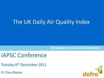 The UK Daily Air Quality Index - iapsc