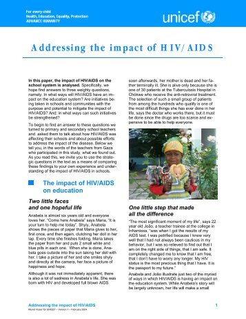 Addressing the impact of HIV/AIDS - Learning Development Institute