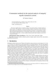 Commutator methods for the spectral analysis of uniquely ergodic ...