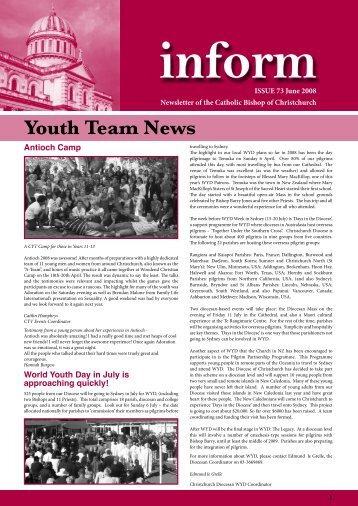 Inform 73.pdf - Catholic Diocese of Christchurch