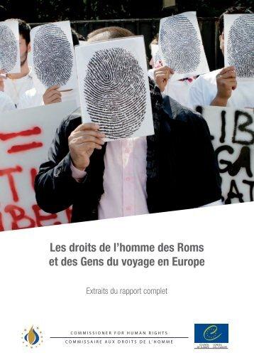 Les droits de l'homme des Roms et des Gens du voyage en Europe