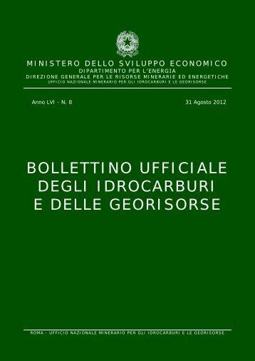 LVI-8 - Unmig - Ministero dello Sviluppo Economico