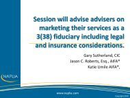 Session will advise advisers on marketing their services as a ... - Fi360