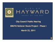 I-880 - SR 92 Reliever Route Phase I Project - City of HAYWARD