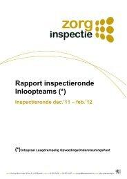 Rapport inspectieronde Inloopteams (december 2011 - februari 2012).