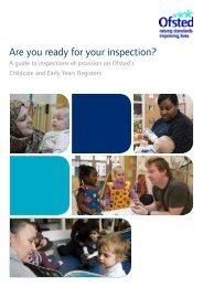 Are you ready for your inspection? - Children's Centres