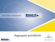 Method Chooser: Regression and ANOVA - ASQ-1302