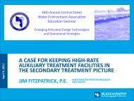 A Case for Keeping High-Rate Auxiliary Treatment Facilities in the ...