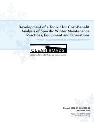 Development of a Toolkit for Cost-Benefit Analysis of ... - Clear Roads