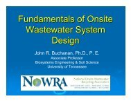 Fundamentals of Onsite Wastewater System Design - Center for ...