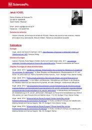 CV Jakob Vogel - Spire - Sciences Po
