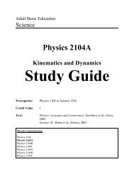 Physics 2104A - Department of Advanced Education and Skills
