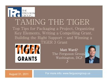 """""""Taming the TIGER"""" (PDF) - Smart Growth America"""