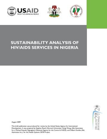SUSTAINABILITY ANALYSIS OF HIV/AIDS SERVICES IN NIGERIA