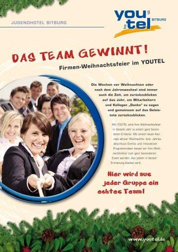 Firmen-Weihnachtsfeier im YOUTEL - Jugendhotel Bitburg