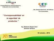 Roberto Alegría, Director General del Consejo Mexicano de ...