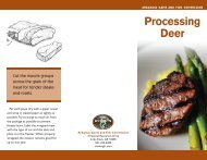 Processing Deer - Arkansas Game and Fish Commission