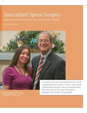 Specialized Spinal Surgery - Baystate Health