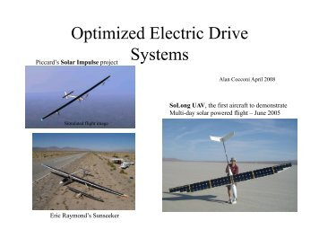 Optimized Electric Drive Systems - CAFE Foundation