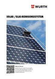 Broschüre für Solar-Reinigungssystem - Würth